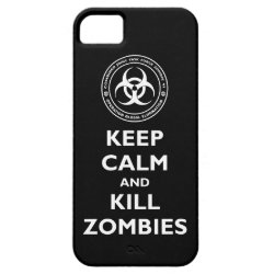 Case-Mate Vibe iPhone 5 Case with Keep Calm and Kill Zombies design