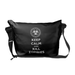 Rickshaw Medium Zero Messenger Bag with Keep Calm and Kill Zombies design