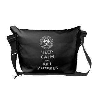 Kill Zombies Messenger Bags