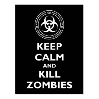 Kill Zombies Postcard