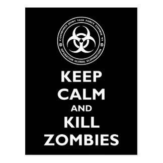 Kill Zombies Post Card