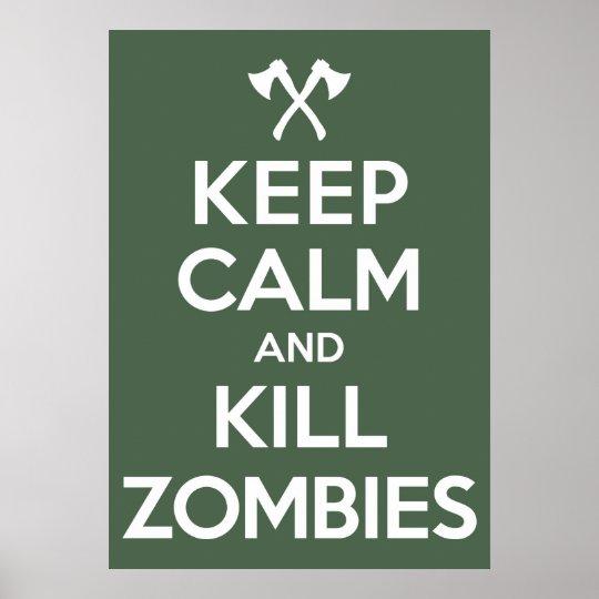Kill Zombies Poster