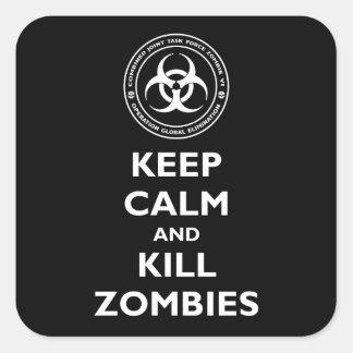 Kill Zombies Square Sticker