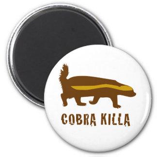 killa de la cobra del tejón de miel imán redondo 5 cm