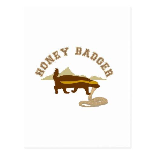 killa de la cobra del tejón de miel tarjeta postal