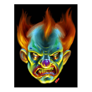 Killa Klown Monster Postcard