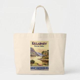 Killarney, el reflejo del cielo bolsa tela grande