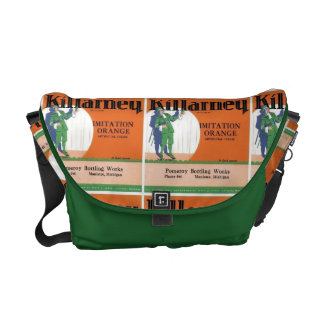 Killarney Imitation Orange Packaging Label Messenger Bags