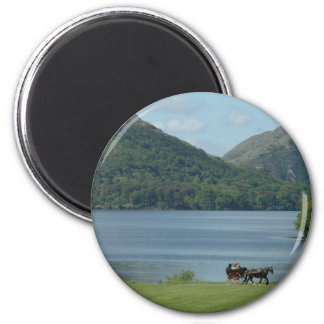 Killarney Lakes and Jarvey 2 Inch Round Magnet