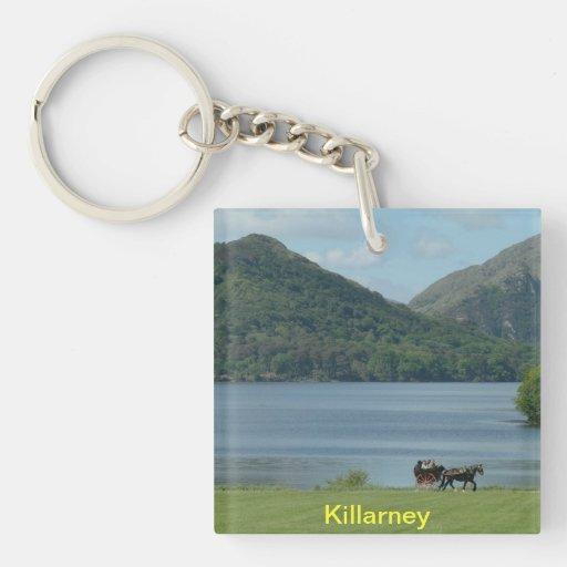 Killarney Lakes and Jarvey Single-Sided Square Acrylic Keychain