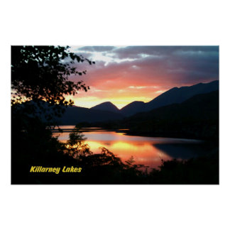 Killarney Lakes Sunset Poster