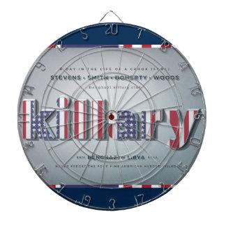 Killary Crooked Hillary Benghazi TRUMP 4 PRESIDENT Dartboard With Darts