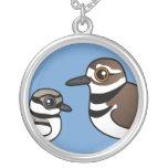 Killdeer & chick custom necklace