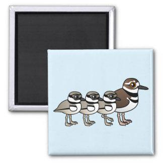 Killdeer & three chicks refrigerator magnet