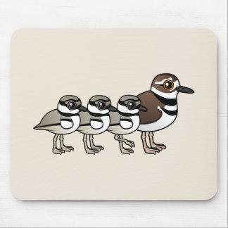 Killdeer & three chicks mouse pad