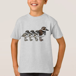 Killdeer & three chicks T-Shirt