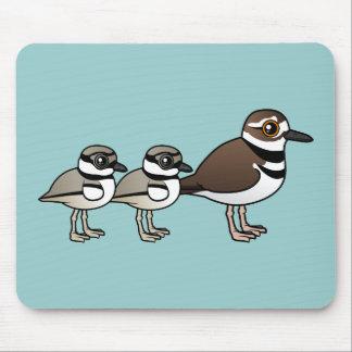 Killdeer & two chicks mouse pad