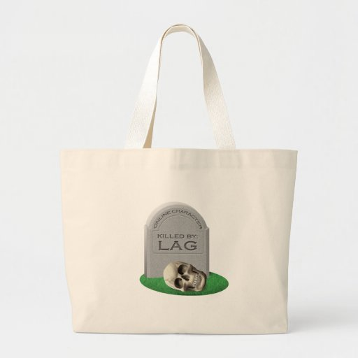 Killed By Lag Canvas Bag