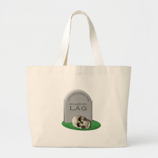 Killed By Lag Large Tote Bag