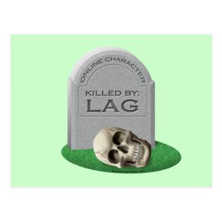Killed By Lag Postcard