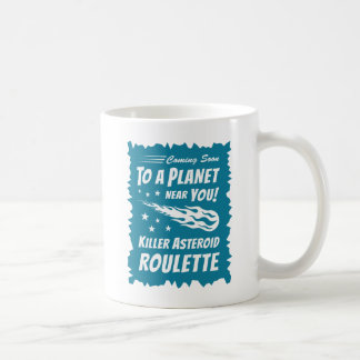 Killer Asteroid Roulette - Geek Astronomy Classic White Coffee Mug