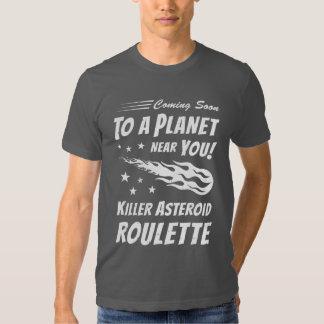 Killer Asteroid Roulette - Geek Astronomy T Shirt