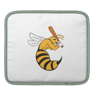 Killer Bee Baseball Player Bat Cartoon iPad Sleeves