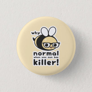 Killer Bee Pinback Button
