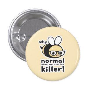 Killer Bee Pinback Button