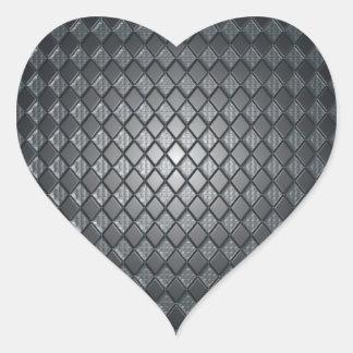Killer Black Diamond Design Heart Sticker
