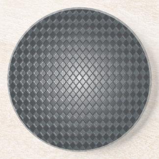 Killer Black Diamond Design Sandstone Coaster