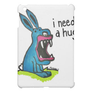 Killer Blue Bunny Needs a Hug Print iPad Mini Case