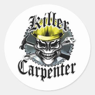 Killer Carpenter Classic Round Sticker