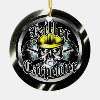 Killer Carpenter Skull Ornament