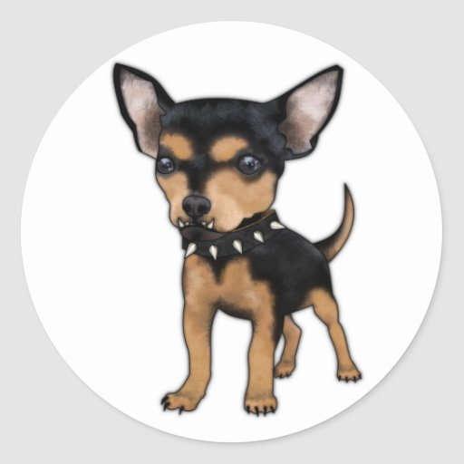 Killer Chihuahua Classic Round Sticker