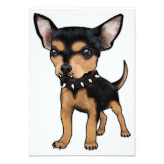 "Killer Chihuahua 5"" X 7"" Invitation Card"