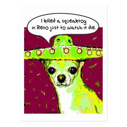 Killer Chihuahua Postcards