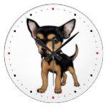 Killer Chihuahua Round Wallclock
