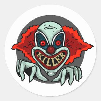 Killer Clown Classic Round Sticker