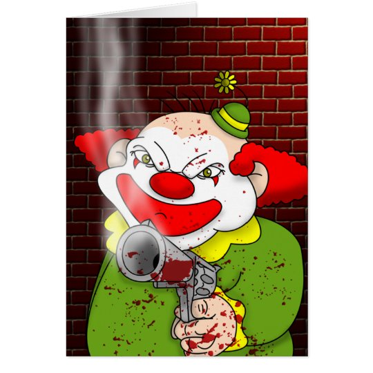 Killer Clown Greeting Card