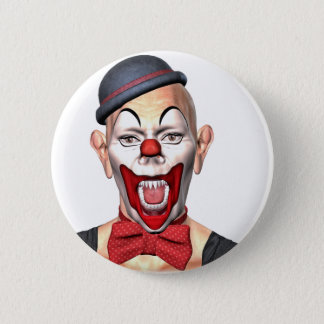 Killer Clown looking to the front Button