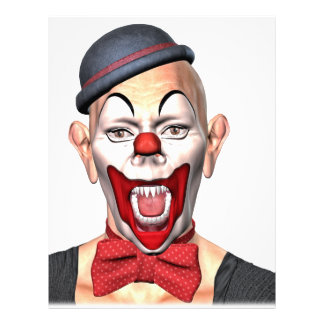 Killer Clown looking to the front Letterhead