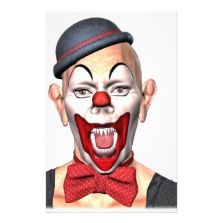 Killer Clown looking to the front Stationery