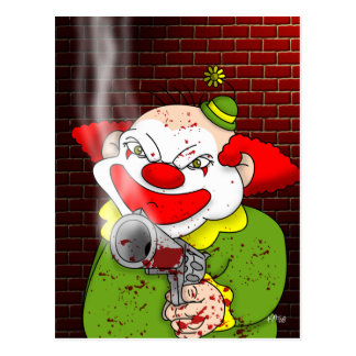 Killer Clown Postcard