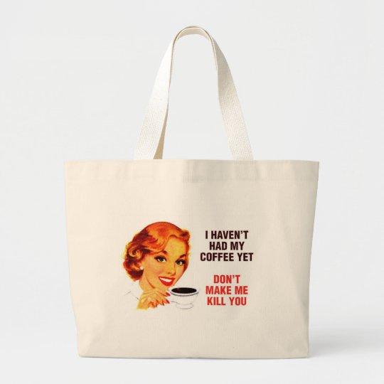 Killer Coffee Bad Girl Large Tote Bag