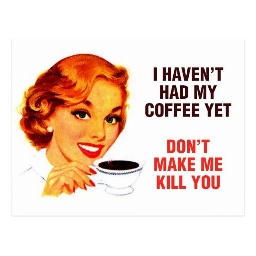 Killer Coffee Bad Girl Postcards