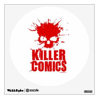 Killer Comics Blood Splatter Logo Wall Sticker