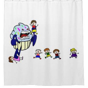 Killer Cupcake Shower Curtain