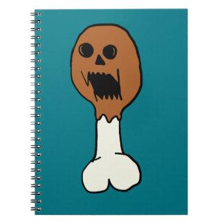 Killer Drumstick Cartoon Notebook