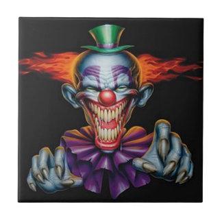 Killer Evil Clown Ceramic Tile